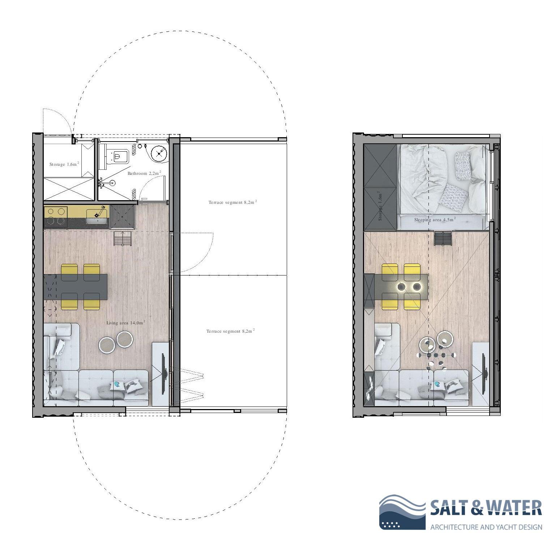 Rasklopiva kuća u prirodi Salt_water9